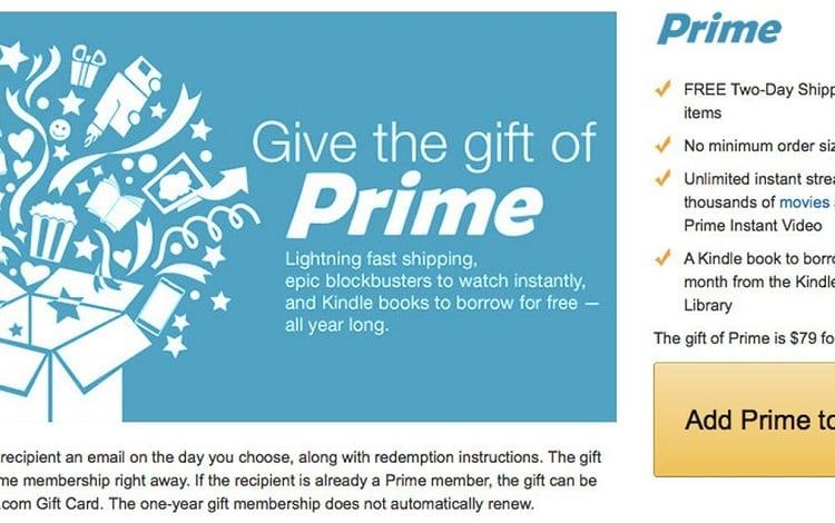 Prime membership gift
