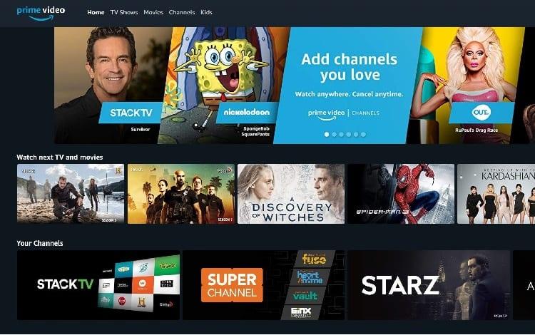 amazon prime channels